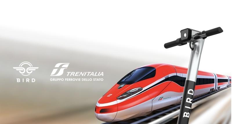 Dal Monopattino al Frecciarossa: accordo tra Bird e Trenitalia