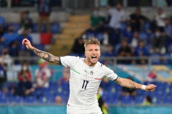 Ciro Immobile a segno contro la Turchia nella prima partita degli Europei – LaPresse