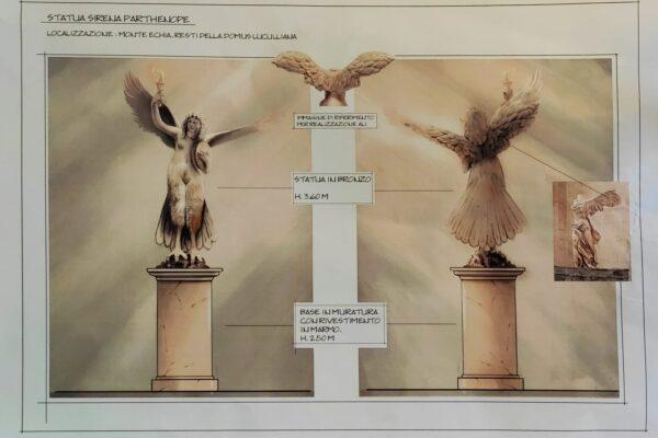 Una sirena sul monte Echia: una statua di Partenope alta sei metri per accogliere chi arriva dal mare