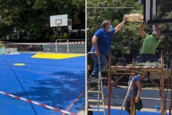 """Il campo di basket per Silvia Ruotolo, vittima innocente della camorra: """"Ha i colori che lei amava"""""""