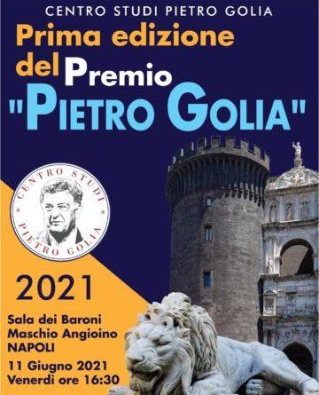 Napoli: venerdi' al Maschio Angioino la prima edizione del Premio Pietro Golia