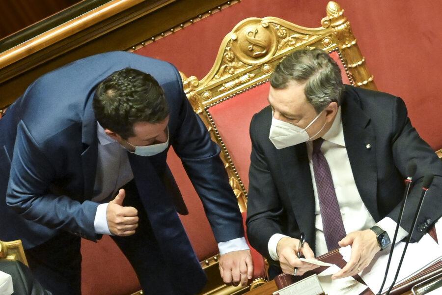 """Catasto e discoteche, Salvini ancora all'attacco di Draghi ma il premier tira dritto: """"Governo non segue il calendario elettorale"""""""