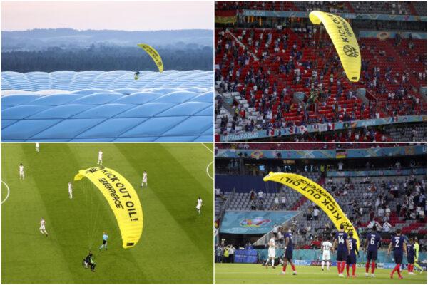 """Atterra in paracadute sullo stadio, 2 feriti durante Francia-Germania: """"Azione sconsiderata e pericolosa"""""""