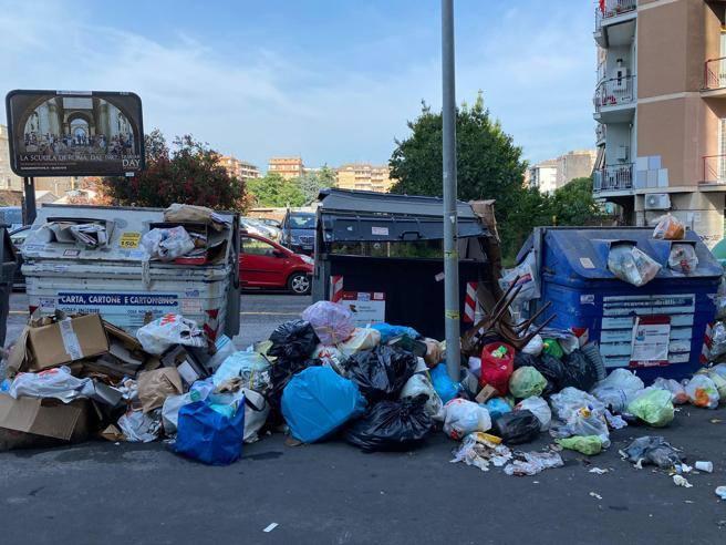 Caos rifiuti a Roma. D'Amato: emergenza sanitaria col caldo. Raggi: colpa della regione