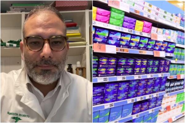 """""""Il ciclo non è un lusso"""", così a Napoli una farmacia elimina l'Iva al 22% sugli assorbenti"""