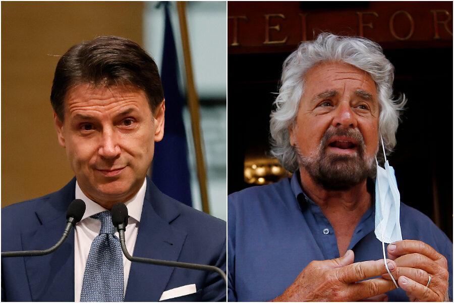 """Grillo demolisce Conte: """"Non ha visione politica né esperienza, il Direttivo lo votiamo su Rousseau"""""""
