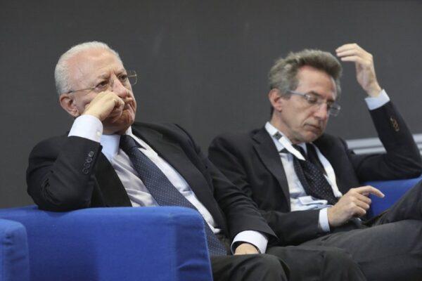 De Luca con Manfredi: presidente della Regione o segretario del Pd?