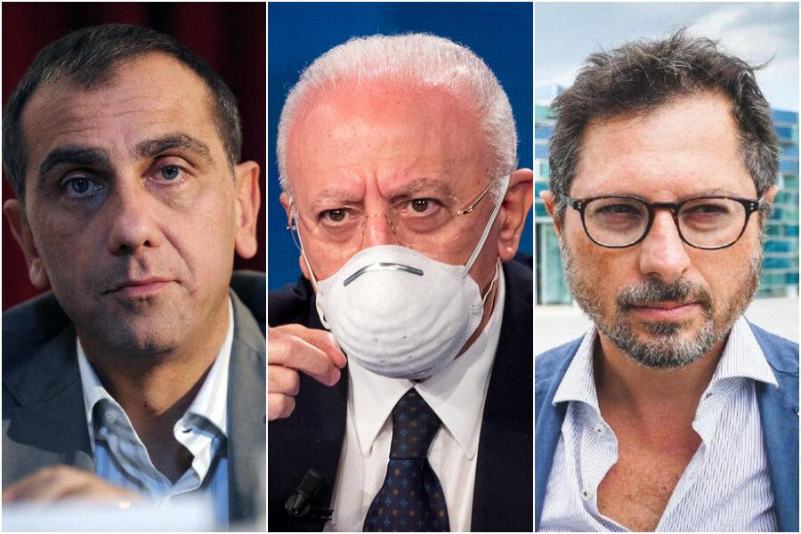 Severino Nappi, Vincenzo De Luca e Francesco Emilio Borrelli