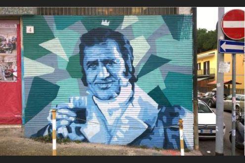 Alla Garbatella un murales per Alberto Sordi: oggi avrebbe compiuto 101 anni