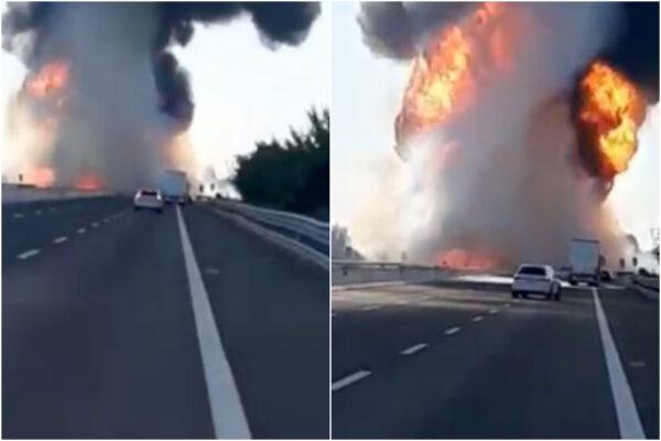 Scoppia autocisterna sull'A1, due camionisti morti nello scontro tra mezzi pesanti