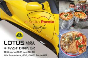 Il Lotus Club Roma si raduna per la prima volta nel 2021 e sceglie la pizza napoletana di Errico Porzio