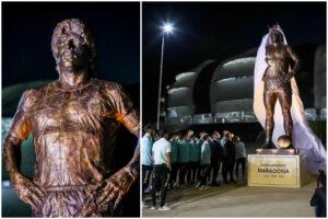 """Maradona, la statua inaugurata da Messi e dalla Nazionale: """"Sappiamo quanto amava l'Argentina"""""""