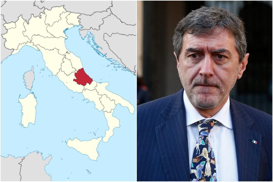 """""""L'Abruzzo si affaccia su tre mari"""", la gaffe virale del presidente Marsilio che scatena la bufera politica"""