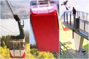 Il video del crollo della funivia del Mottarone: la cabina s'impenna e torna indietro, immagini raccapriccianti