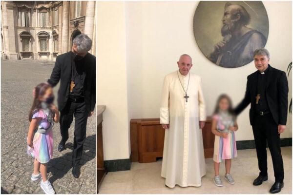 """La piccola Noemi incontra Papa Francesco: """"Un sogno che si avvera"""""""