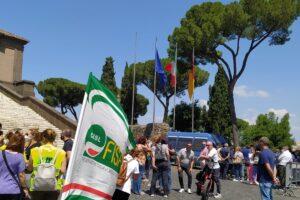 Roma Multiservizi, la protesta in Campidoglio