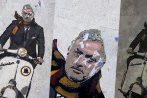 Il murales per Mourinho imbrattato