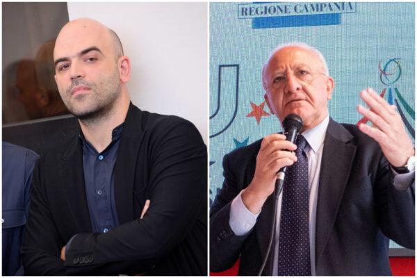 """Saviano contro De Luca: """"Mi ha escluso dal Ravello Festival, don Vicié stai senza pensieri: non vengo"""""""
