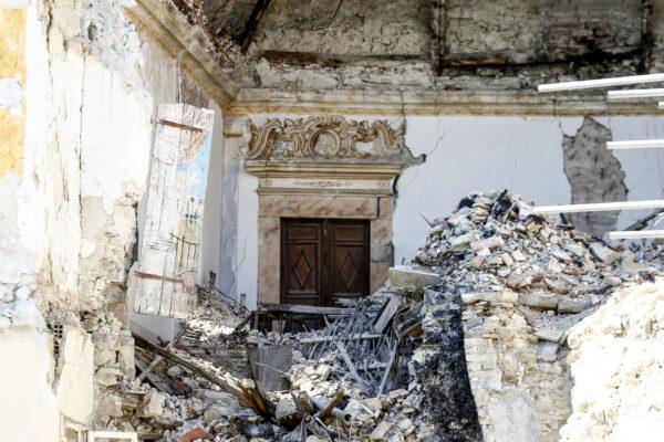 Borgo di Accumoli dopo il terremoto del 2016