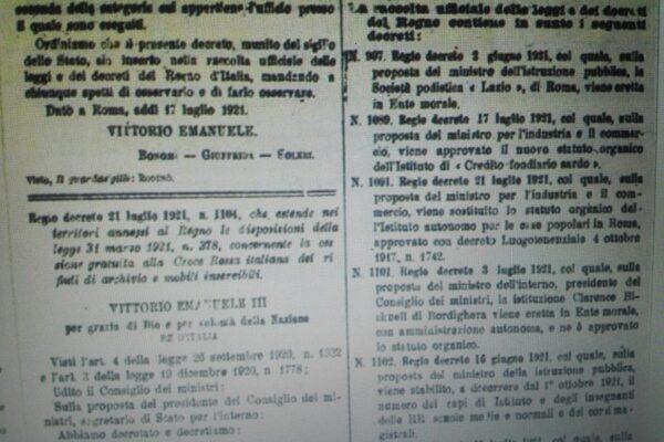 Oggi il centenario della Società podistica Lazio Ente Morale