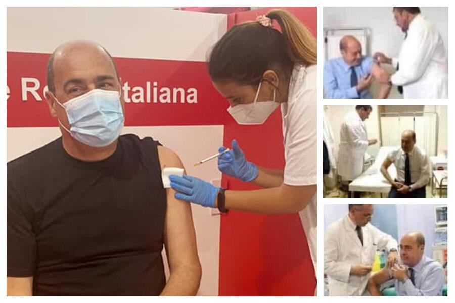 """Zingaretti e le quattro foto dei vaccini, la bufala corre sul web: """"Mi danno del super-dosato, follie!"""""""