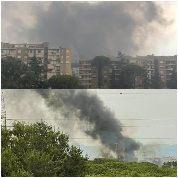 Domenica di maxi incendi a Roma: case evacuate e danni