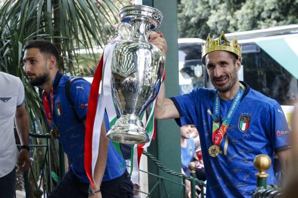 L'arrivo della Nazionale Italiana in hotel