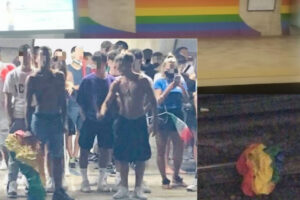 """Roma, vandalizzato l'arcobaleno Lgbt nella fermata metro Colosseo. Marrazzo: """"Scena non da Paese civile"""""""