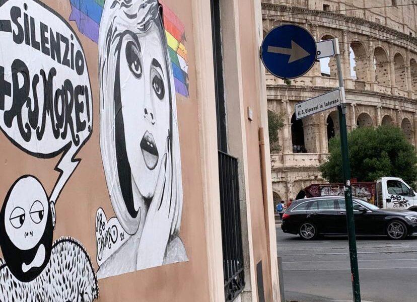 """Un murale per ricordare Raffella Carrà nella Gay street di Roma. Marrazzo: """"Dedichiamo la via alla cantante"""""""