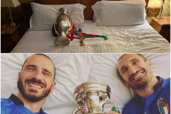 """Chiellini come Cannavaro, dorme con la Coppa dell'Europeo: """"Seguo la tradizione di un grande maestro"""""""