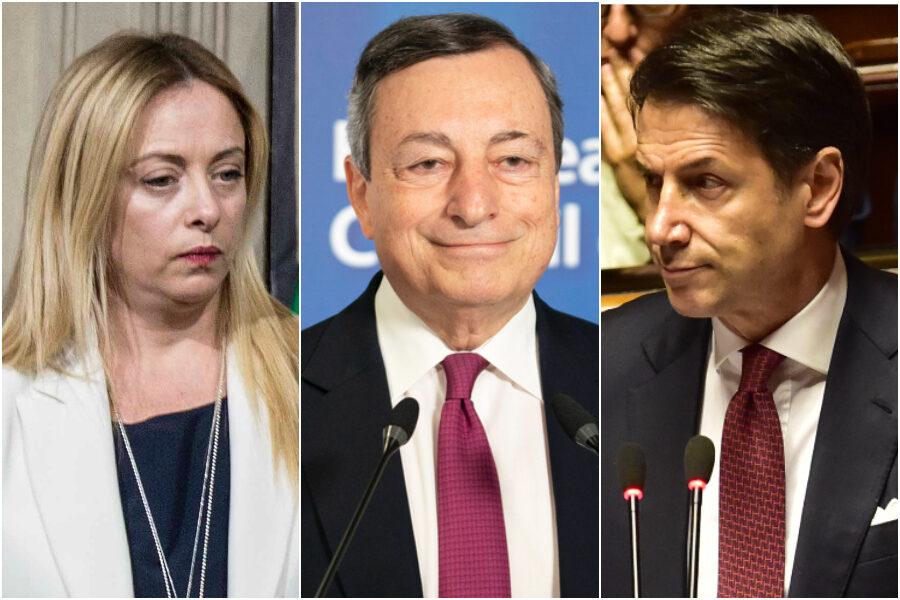 Draghi respinge l'attacco di Conte, ora il pericolo viene da destra