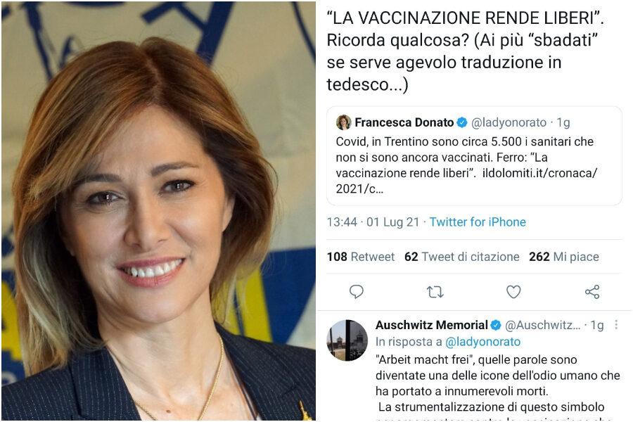 Francesca Donato, l'europarlamentare leghista che cita gli slogan nazisti  contro il vaccino - Il Riformista