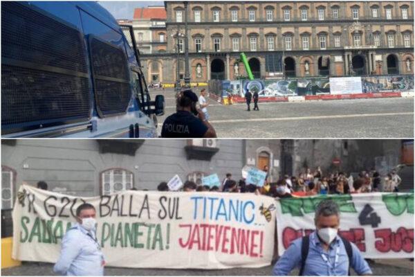 Al via il G20 a Napoli: a Palazzo Reale si discute di ambiente ed energia, in piazza partono le proteste