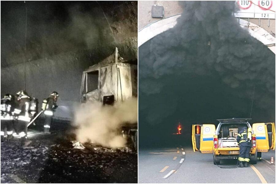 Camion a fuoco sull'A10, code fino a 9 chilometri: caos totale nel nodo di Genova
