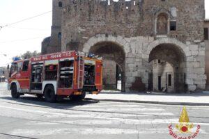 Roma, incendio al Museo della via Ostiense: soccorse 4 persone