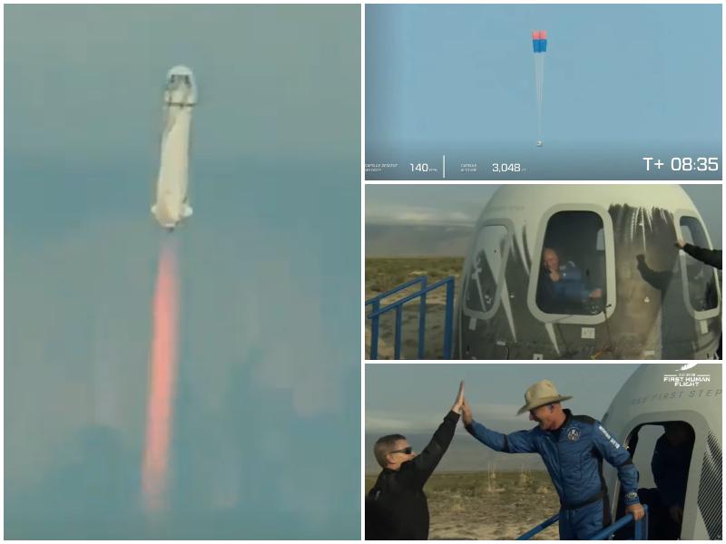 """Jeff Bezos vola nello spazio, missione compiuta per Blue Origin: """"Il giorno più bello di sempre"""""""