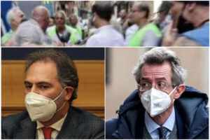 Tafferugli sì, proposte no: la campagna elettorale di Manfredi e Maresca finisce in rissa
