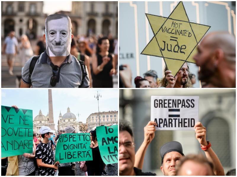 Chi sono i No Green Pass, i No-Vax in piazza contro la certificazione verde anti-covid