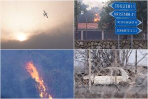 Incendi nell'Oristanese, fiamme in 10 centri abitati: oltre 1500 sfollati e 20mila ettari bruciati