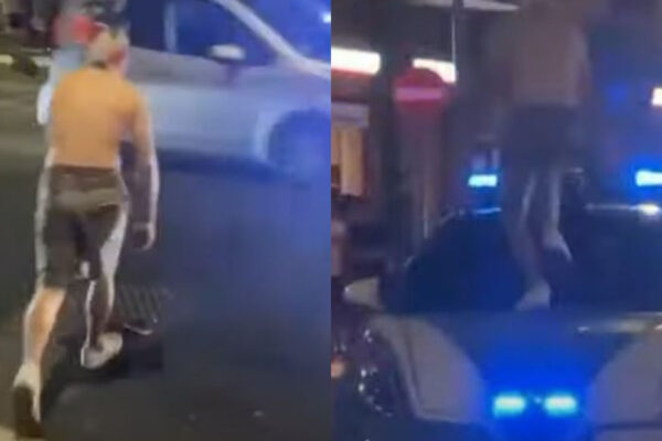 Saltò sull'auto della polizia per festeggiare la vittoria dell'Italia, daspo per 26enne