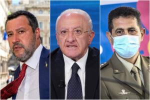 """De Luca scatenato sui vaccini: """"Da Figliuolo stupidaggini, Salvini è irresponsabile e lo Stato non esiste"""""""