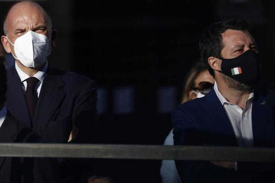 Passerella di Letta e Salvini a Napoli: qui non per la città ma per lo scontro su governo e Quirinale