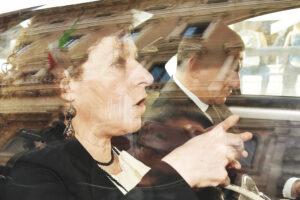 I pm Laura Triassi i e Francesco Basentini arrivano in un ufficio decentrato di Palazzo Chigi per l'interrogatorio del ministro Boschi, Roma, 04 aprile 2016.  ANSA / ETTORE FERRARI