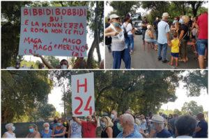 Le proteste dei cittadini (Foto Associazione Salute Ambiente Albano)