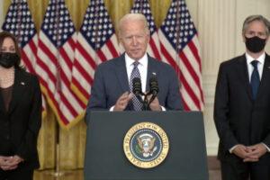"""Biden: """"E' l'evacuazione più difficile della storia, Afghanistan non sarà mai base dei terroristi"""""""