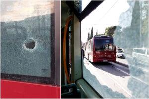 Bersaglio Atac, ennesimo episodio di sassi e bottiglie contro i mezzi pubblici: ferito alla testa l'autista