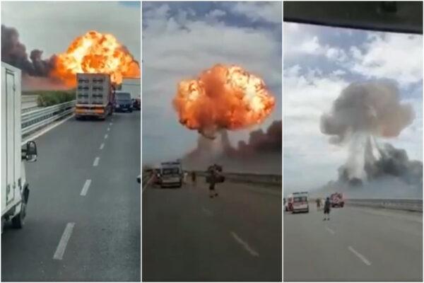Paura e fiamme sulla Foggia Candela: esplode autocisterna carica di Gpl, un ferito