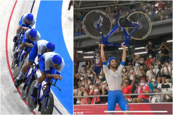 Italia oro nel ciclismo su pista: il quartetto azzurro batte il record del mondo