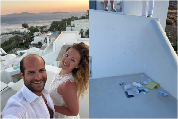 """""""Siamo stati drogati e derubati a Mykonos"""", la disavventura della coppia di napoletani in viaggio di nozze"""