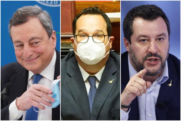 Draghi ordina, Salvini obbedisce: via Durigon, Lamorgese non si tocca